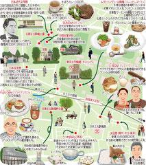 東京どんぶらこ イラストマップ 駒場東大前