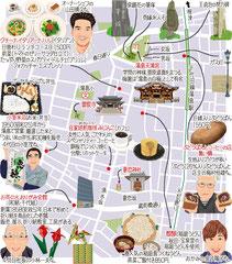東京どんぶらこ イラストマップ 湯島