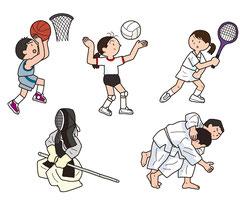 スポーツ バスケ バレー テニス 剣道 柔道