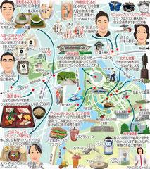 東京どんぶらこ イラストマップ 九段下
