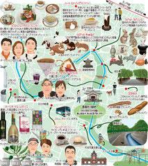 東京どんぶらこ イラストマップ 善福寺川緑地
