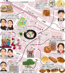 東京どんぶらこ イラストマップ 上板橋