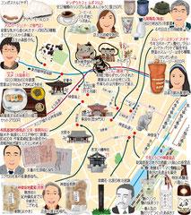 東京どんぶらこ イラストマップ 神楽坂