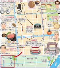 東京どんぶらこ イラストマップ 住吉 小名木川