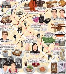 東京どんぶらこ イラストマップ 武蔵小山