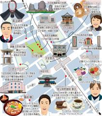東京どんぶらこ イラストマップ 小伝馬町