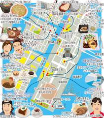 東京どんぶらこ イラストマップ 晴海