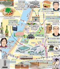 東京どんぶらこ イラストマップ 横網