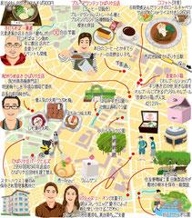 東京どんぶらこ イラストマップ ひばりが丘