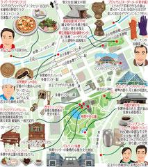 東京どんぶらこ イラストマップ 多摩センター