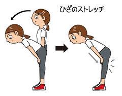 ひざのストレッチ