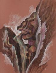 """Ольга Попова. """"Анатомия дерева"""" лист 6, пастель, литографский карандаш, 2003"""