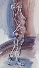 """""""Пропускающая свет"""" бумага, акварель,45х38, 1996"""