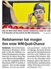25. Mai 2013: Tiroler Tageszeitung