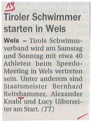 17. Mai 2013: Tiroler Tageszeitung