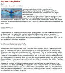 02. Juli 2014: Haller Blatt online