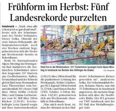 27. Okt. 2014: Tiroler Tageszeitung
