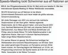 21. Mai 2013: Oberösterreichische Nachrichten