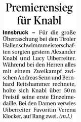 25. Feb. 2013: Tiroler Tageszeitung