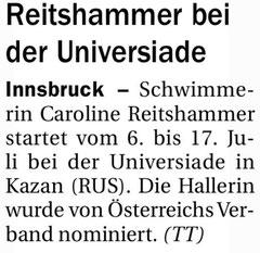 04. Mai 2013: Tiroler Tageszeitung