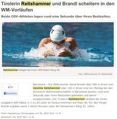 29. Juli 2013: Tiroler Tageszeitung online