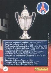 N° 10 - Palmares en France (Verso)