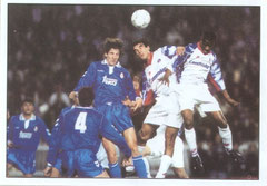 N° 015 - 1992-93 - PSG-Real Madrid - Tête de Kombouaré au bout du suspens