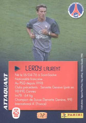 N° 72 - Laurent LEROY (Verso)
