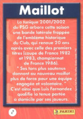 N° 02 - Maillot Domicile (Verso)