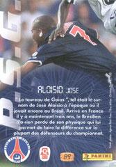 N° 89 - Les beaux Gestes - Jose ALOISIO (Verso)
