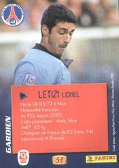 N° 53 - Lionel LETIZI (Verso)
