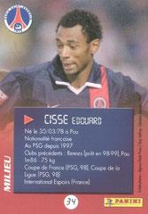 N° 34 - Edouard CISSE (Verso)