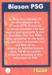 N° 01 - Blason PSG (Verso)