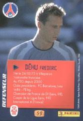 N° 59 - Frederic DEHU (Verso)