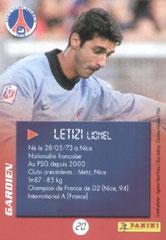 N° 20 - Lionel LETIZI (Verso)