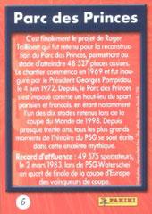 N° 06 - Parc des Princes (Verso)