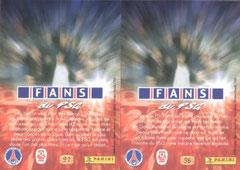 N° 96 et 97 - Fans du PSG (Verso)