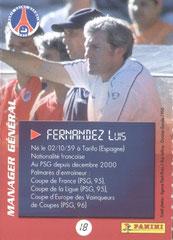 N° 18 - Luis FERNANDEZ (Verso)