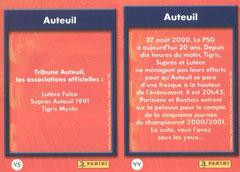 N° 44 et 45 - Tribune Auteuil (Verso)