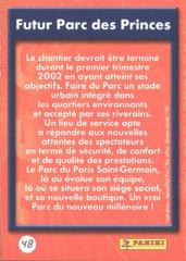N° 48 - Futur Parc des Princes (Verso)