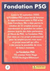 N° 08 - Fondation PSG (Verso)