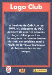 N° 99 - Logo Club (Verso)