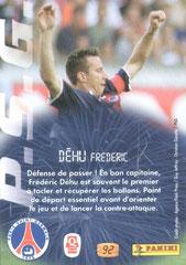 N° 92 - Les beaux Gestes - Frederic DEHU (Verso)