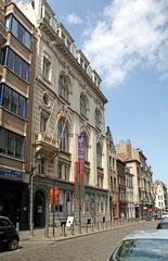 """Das """"Jüdische Museum Brüssel"""" in der Rue de Minimes."""