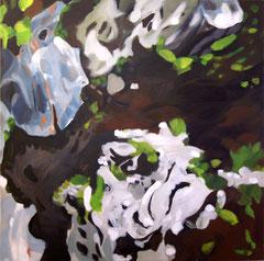 Isländisch Moos, 2012, Acryl auf Leinwand