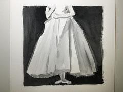 Dévelopé, battement jeté, 2016, Aquarell auf Papier