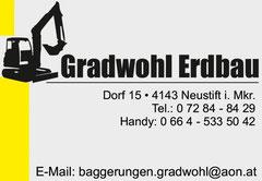 Helmut Gradwohl GmbH  - Lieber frisch gebaggert als alt geschaufelt!