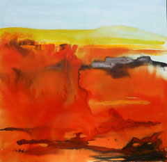 exorbitant..., Aquarell auf Leinwand, 80x80cm