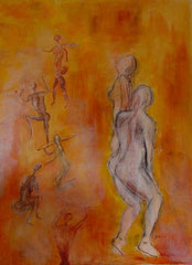 Wandlungen, Acryl, 75x100cm