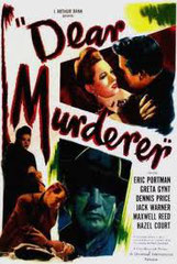 DEAR MURDERER (CHER ASSASSIN), de Arthur Crabtree • Rank - 1947 - GB • Laboratoire de sous-titrage : TITRA-TVS